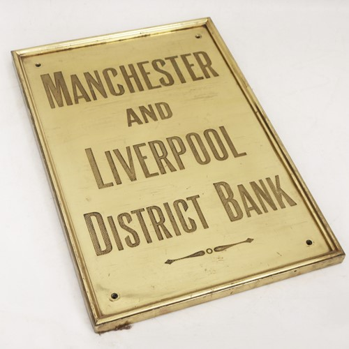 Brass Name Plaque for the 'Manchester & Liverpool