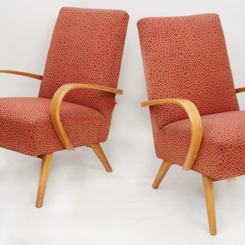 Pair of Retro Bentwood Armchairs