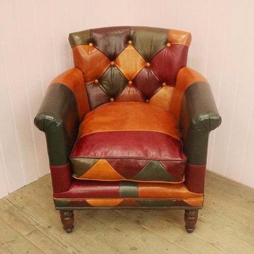 Harlequin Patterned Russell Lounge Armchair