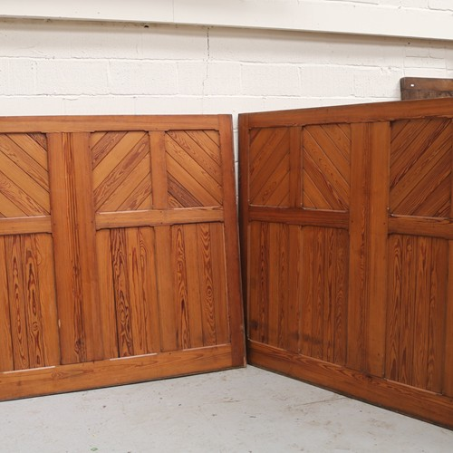 Pair of Pitch Pine Panels