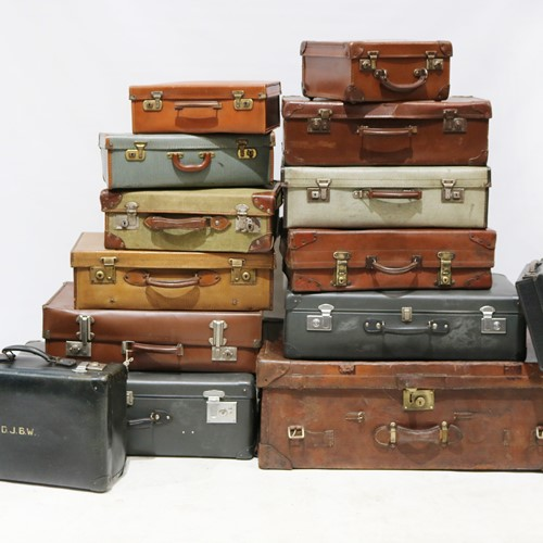 Selection of Assorted Vintage Suitcases