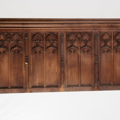 Decorative Run of Early 18th Century Gothic Panels