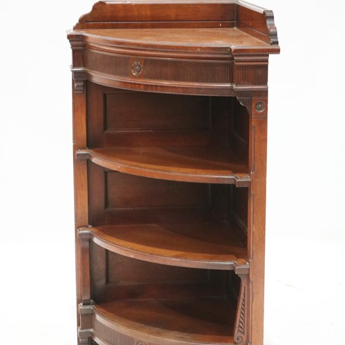 A Lovely Quality Late 19th Century Corner Bookcase