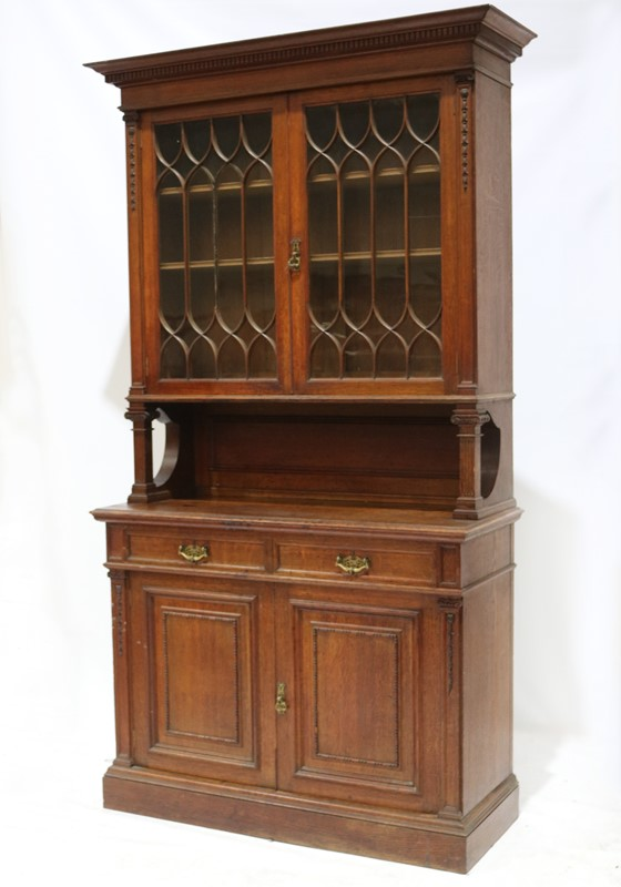 Late 19th Century Solid Oak Two-door Bookcase-taylor-s-classics-cab-03830-1-main-637499291604651018.jpg