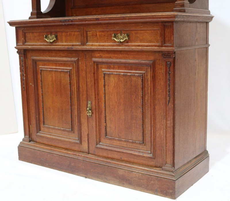 Late 19th Century Solid Oak Two-door Bookcase-taylor-s-classics-cab-03830-6-main-637499292434642372.jpg