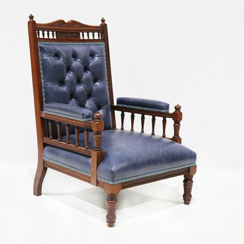 Haden & Seth Walnut Lounge Chair