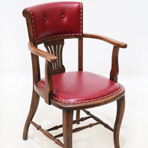 1920s Oak Office / Pub Chair