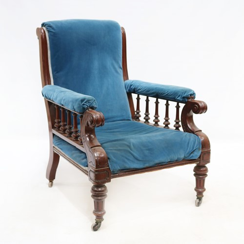 Late 19th Mahogany Framed Gentleman's Armchair