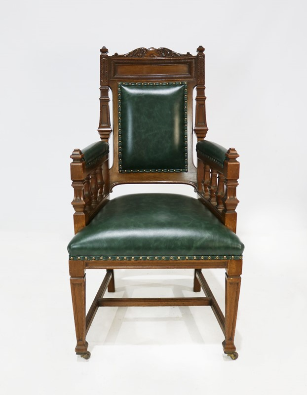 Carver Chair Reupholstered in Green Leather-taylor-s-classics-img-8173-1-main-637181404147019124.jpg