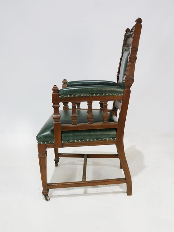 Carver Chair Reupholstered in Green Leather-taylor-s-classics-img-8180-main-637181404198425582.jpg