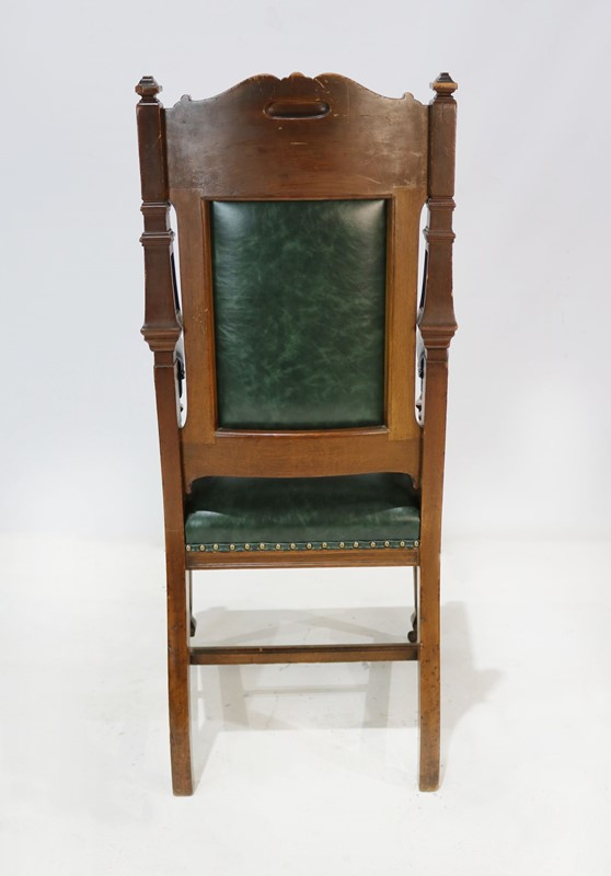 Carver Chair Reupholstered in Green Leather-taylor-s-classics-img-8183-main-637181404207643711.jpg