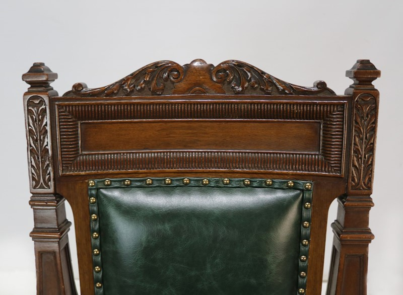 Carver Chair Reupholstered in Green Leather-taylor-s-classics-img-8184-main-637181404217643637.jpg