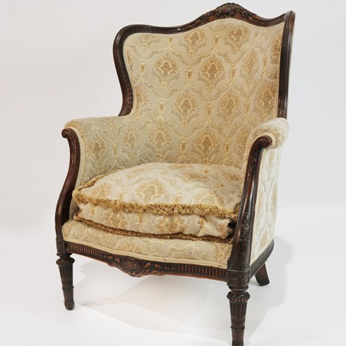 Early 20th Century Mahogany Framed Easy Chair