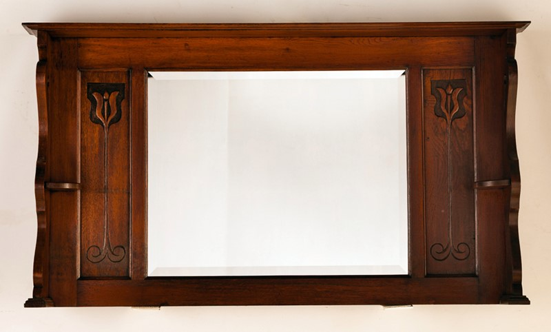 19th Century Oak Framed Overmantle Art Nouveau-taylor-s-classics-mirror-28-main-637400914516684897.jpg