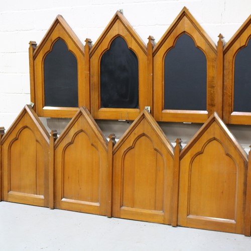 A Fantastic Run of 19th Century Gothic Oak Panels
