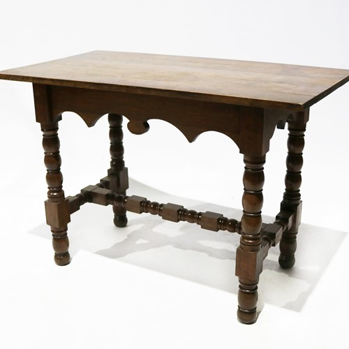 An Interesting Late 19th Century Solid Oak Table