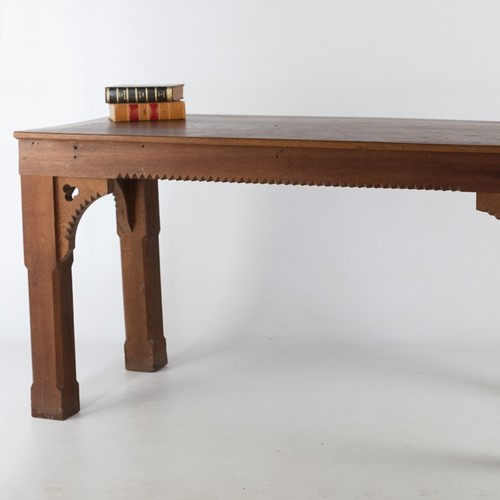 18th Early/ 19th Century Oak Gothic Serving Table