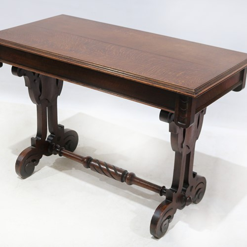 Mid-19th Century Oak Serving Table Gothic Style