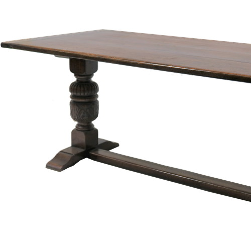 Dark Oak Twin Pedestal Refectory Table