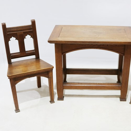 19th Century Hall Table with Matching Chairs
