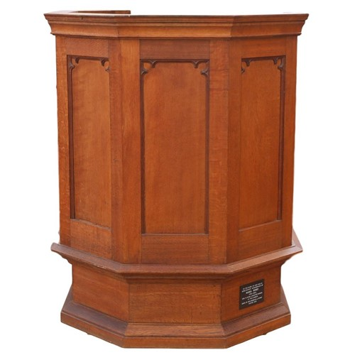 Golden Oak Pulpit