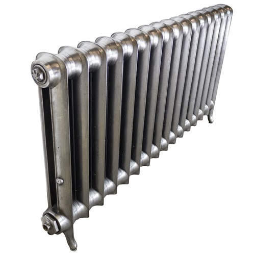 Antique refurbished cast iron radiator