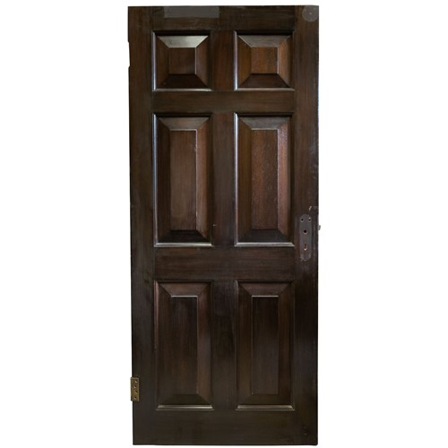 Reclaimed solid mahogany six panel doors