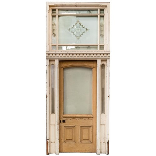 Antique Victorian Entrance with etched glass