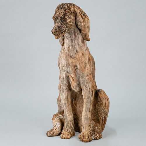 Large Life size Terracotta Afghan Hound Statue