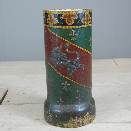 Unusual Painted Ceramic Stick or Umbrella Stand