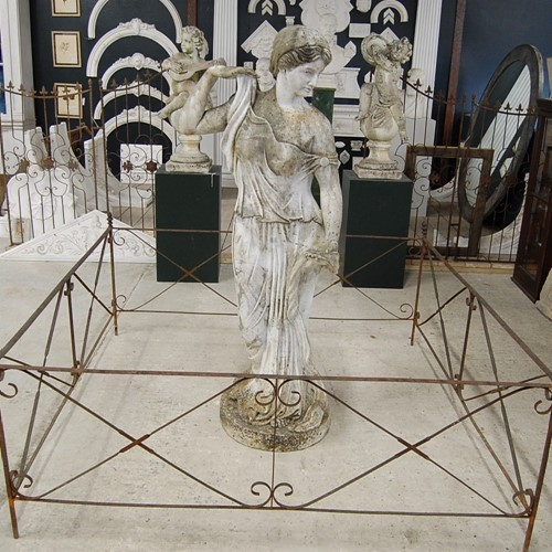 19th Century Wrought Iron Garden Statue or Folly