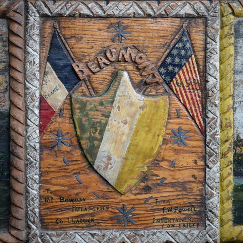 Folk Art Wartime Plaque c.1880