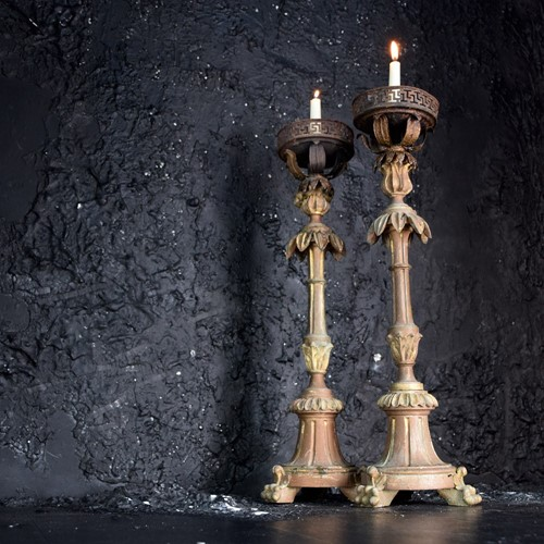 Limewood Candle Sticks
