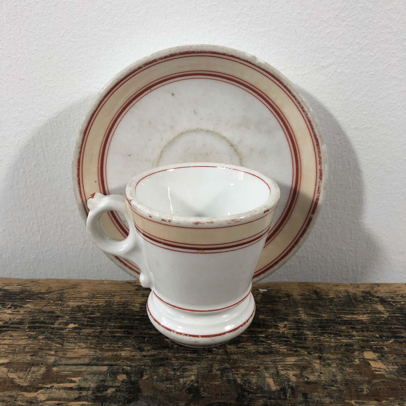 3 antique French Brulot or bistro cups with saucer The Hoarde