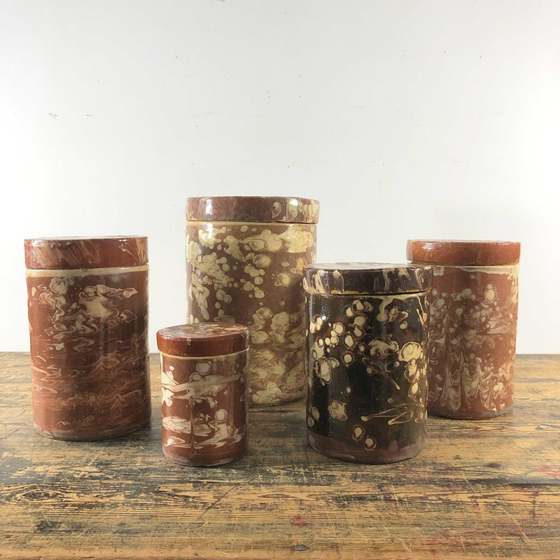 Collection of Antique Marbled Slipware Jars -the-mint-in-rye-marbled-stoneware-antique-pots-1-main-637402824490844802.jpg