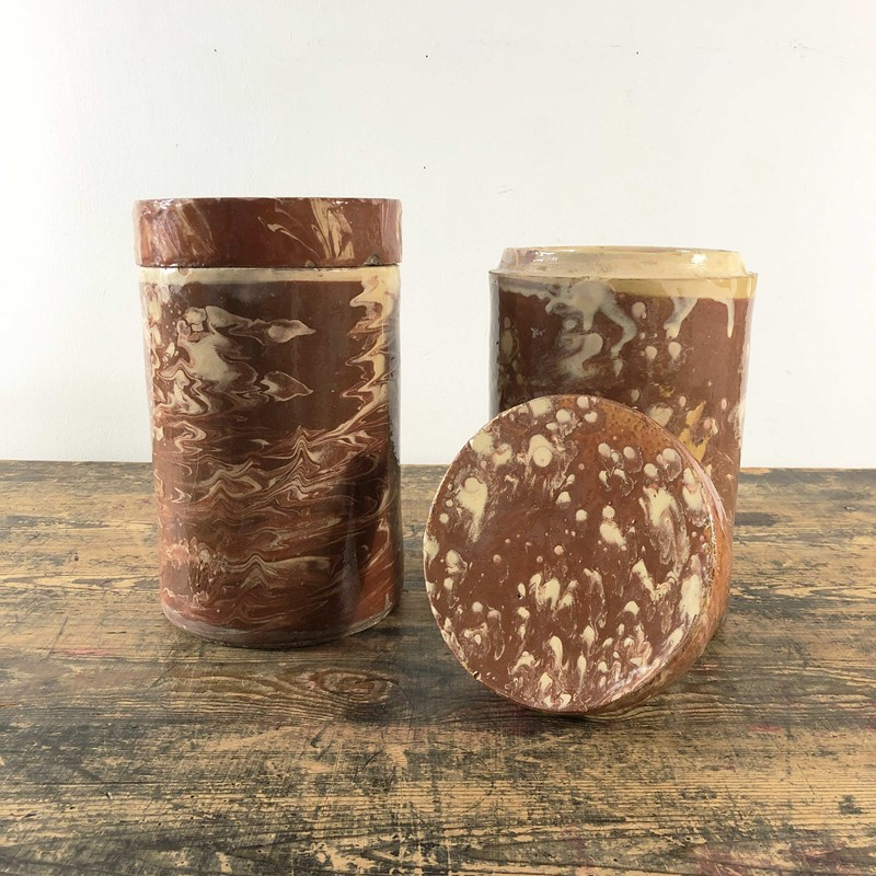 Collection of Antique Marbled Slipware Jars -the-mint-in-rye-marbled-stoneware-antique-pots-12-main-637402825579278483.jpg