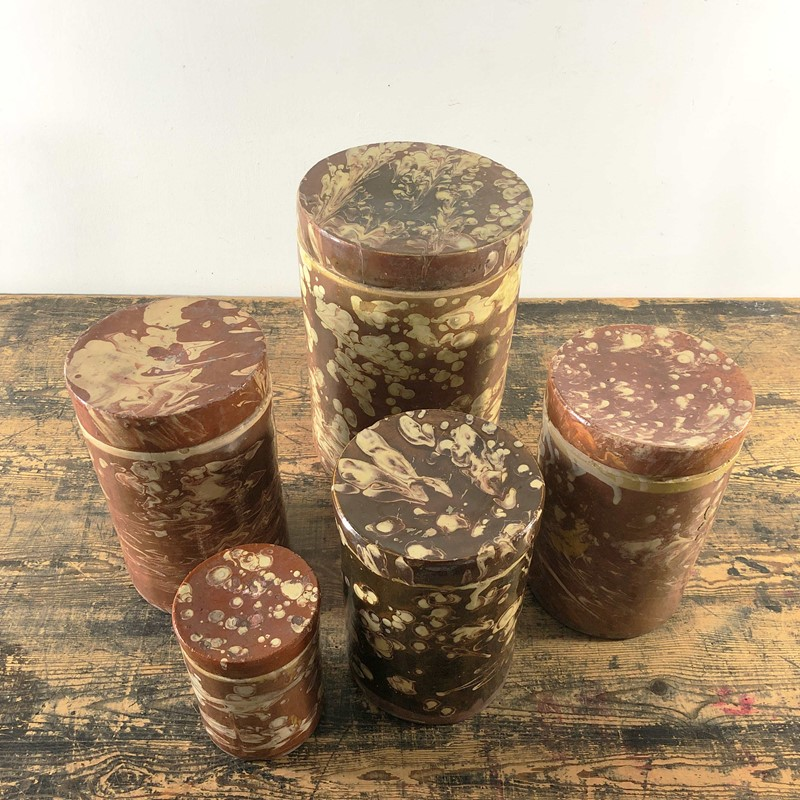 Collection of Antique Marbled Slipware Jars -the-mint-in-rye-marbled-stoneware-antique-pots-3-main-637402824863187288.jpg