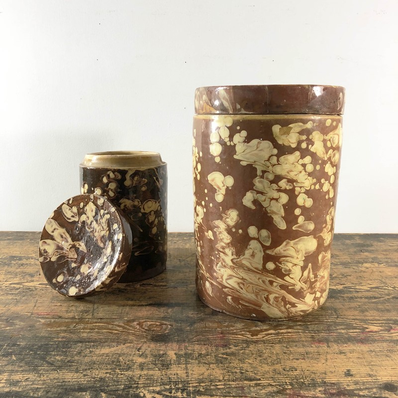 Collection of Antique Marbled Slipware Jars -the-mint-in-rye-marbled-stoneware-antique-pots-9-main-637402825164905147.jpg