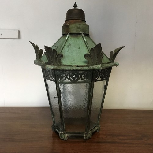 Early Victorian Copper Lantern