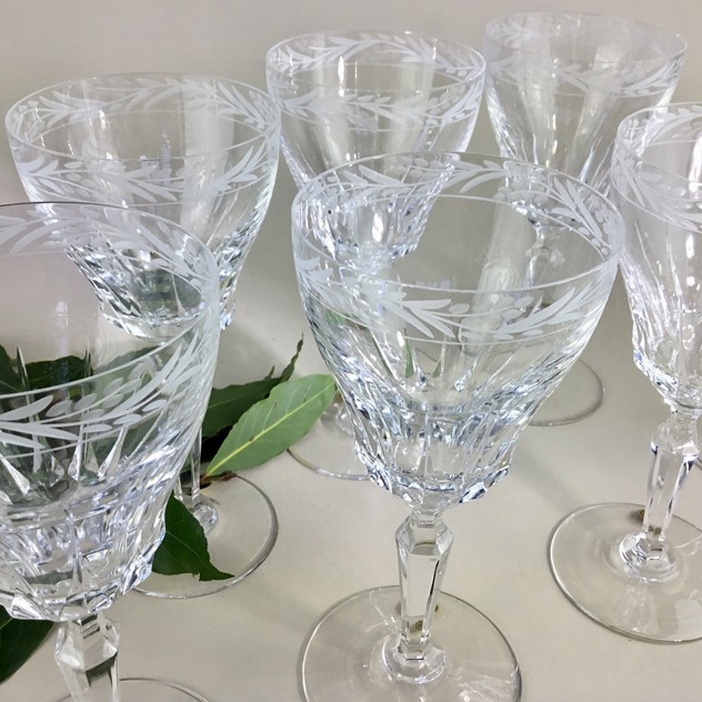 14 etched crystal wine goblets by Val St Lambert-the-vintage-entertainer-D88AA802-A15C-47D5-8568-108620E5BACC_main_636539654938830754.jpeg