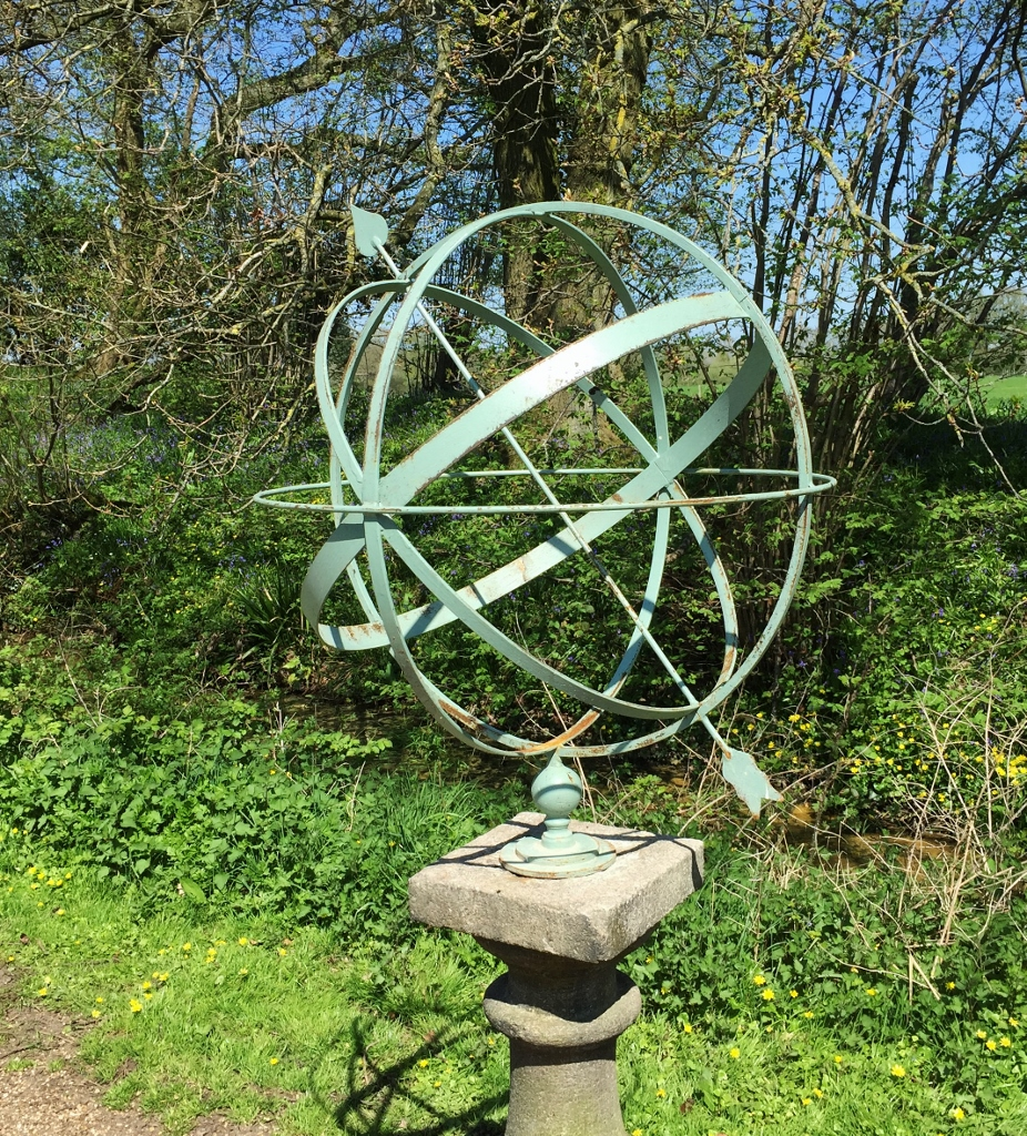 Armillary Sphere With Carved Stone Pedestal The De