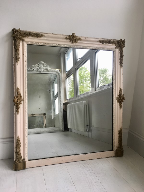 Antique French painted/gilt square mirror-the-vintage-trader-img-6201-main-636953538087666623.jpg