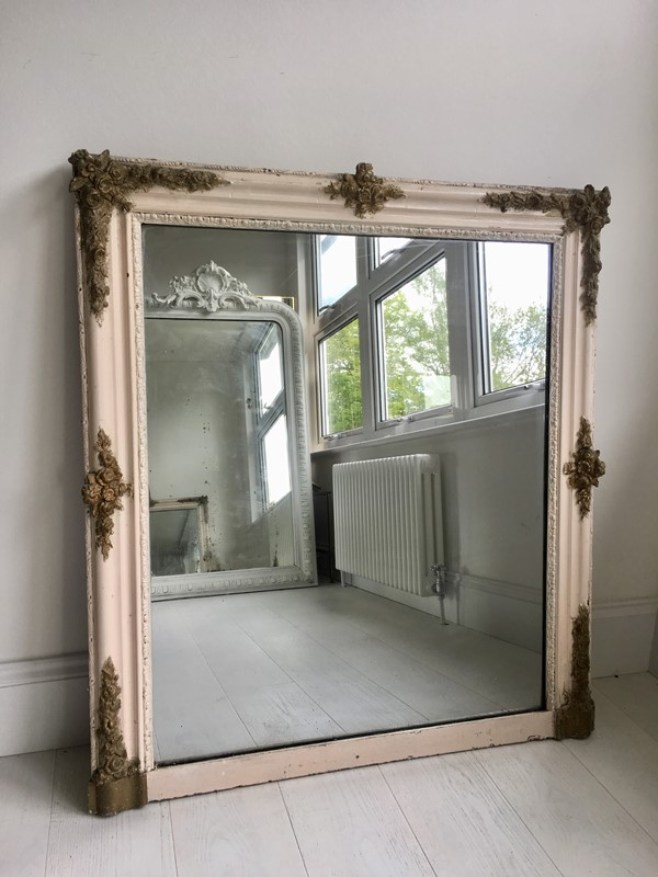 Antique French painted/gilt square mirror-the-vintage-trader-img-6204-main-636953537432541516.jpg