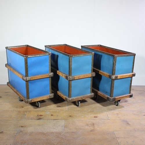Blue industrial Storage trolley