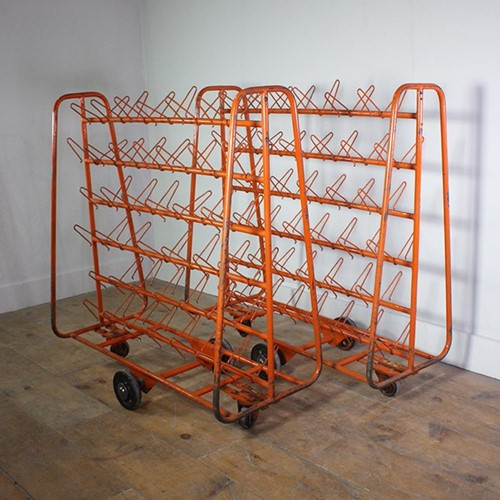 Orange Shoe Storage Trolley