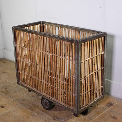 Cane Wicker Trolley