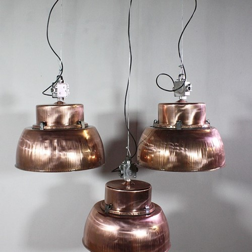 industrial Copper Pendant lights