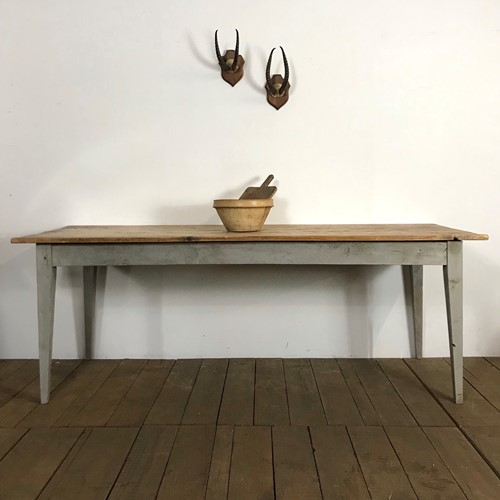 Large Vintage Country Farmhouse Kitchen Table