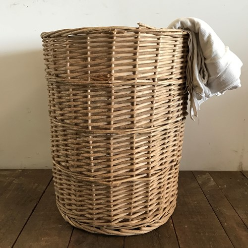 Vintage Antique French Wicker Basket