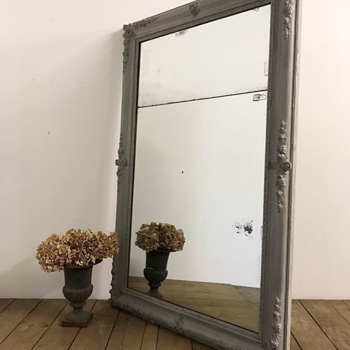 Large 19th Century French Foxed Split Mirror